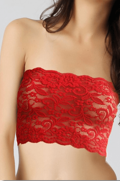 Non Padded Stretch Lace Tube Top