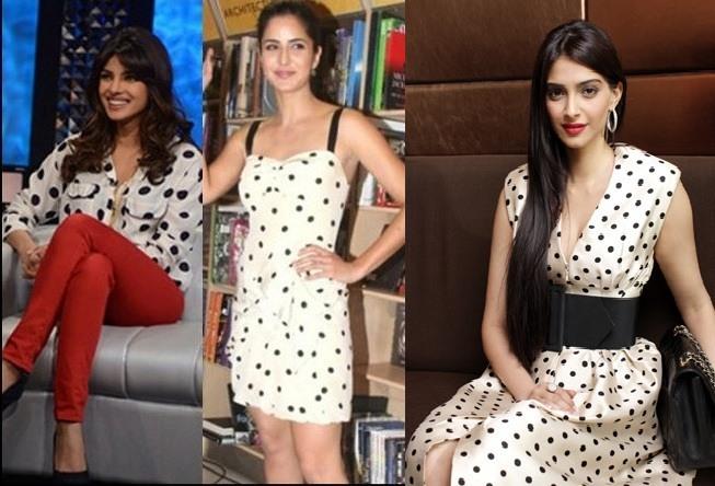 bollywood actresses in polka dot dress