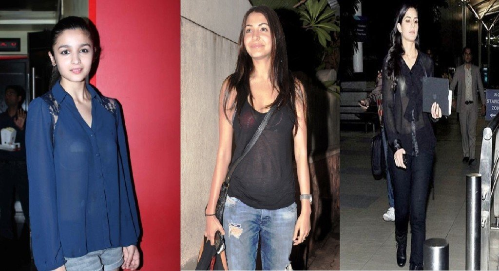 bollywood actresses in sheer tops