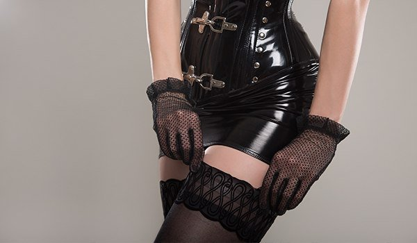Corset Pair up with Stockings
