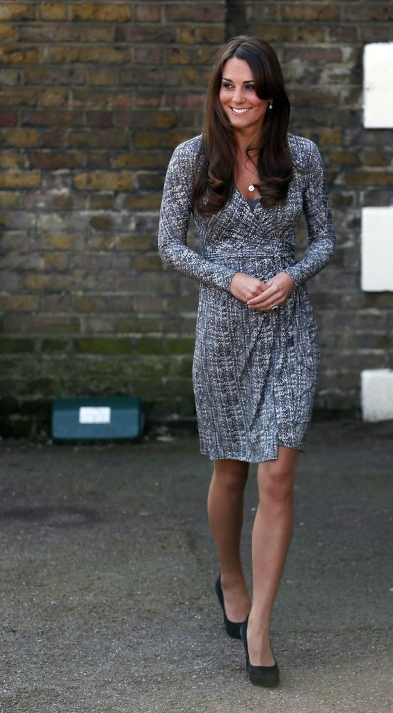 Kate Middleton in Max Mara wrap dress