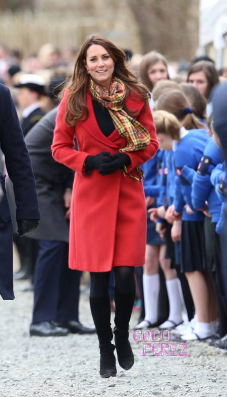 Kate Middleton in red Armani