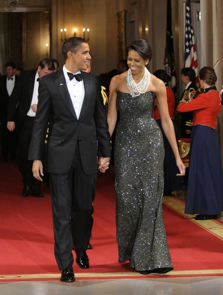 Michelle Obama Peter Soronen Evening Dress