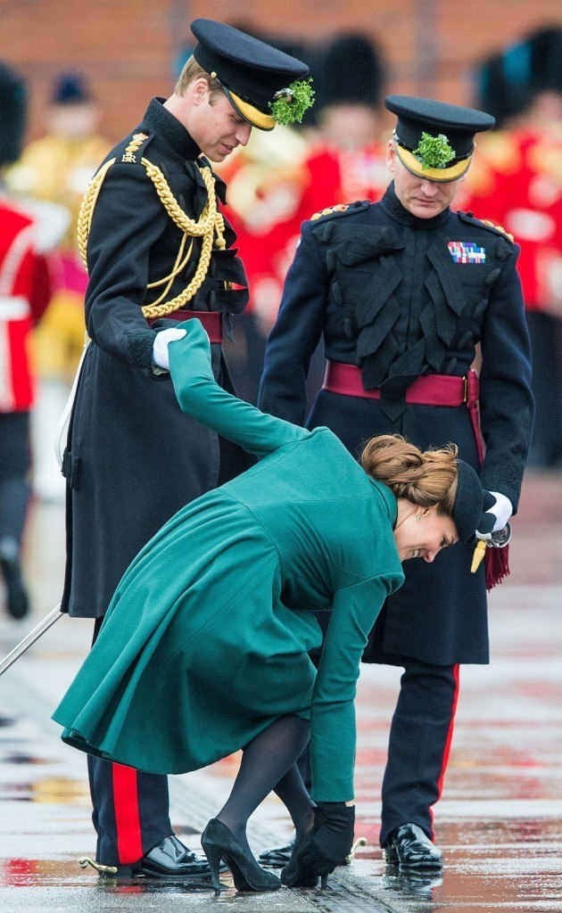 Prince William And The Duchess Of Cambridge Attend A St Patrick's Day Parade