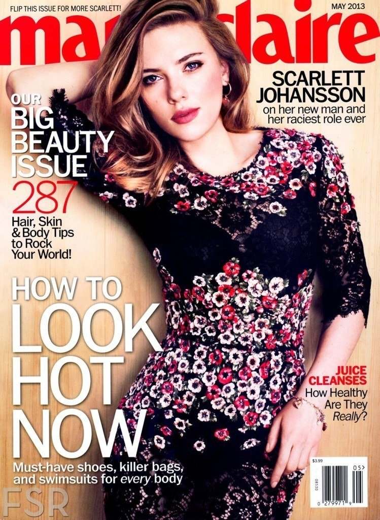 Scarlett Johansson fashion magazine cover May 2013