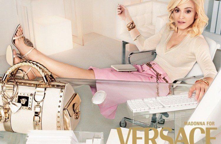 Versace Metallic Monogram Bag