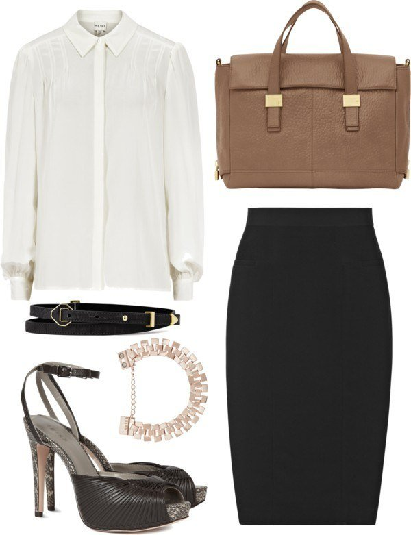 White shirt black skirt for Corporate Wardrobe Essentials