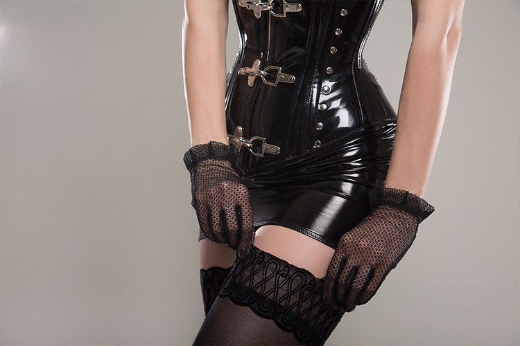 Pairing a Corset with Stockings