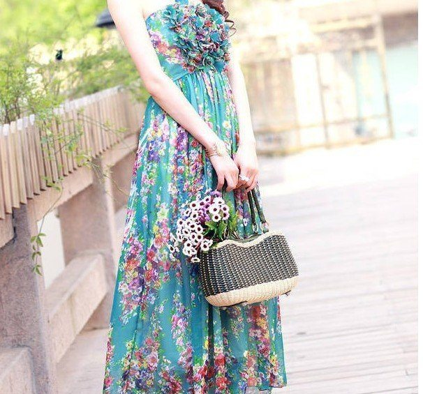 floral printed summer maxi