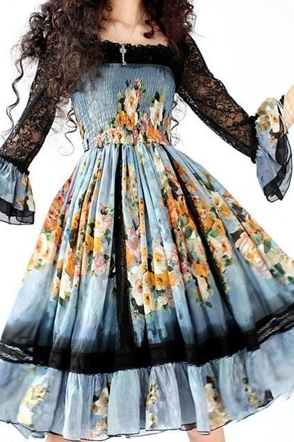 multi color floral print
