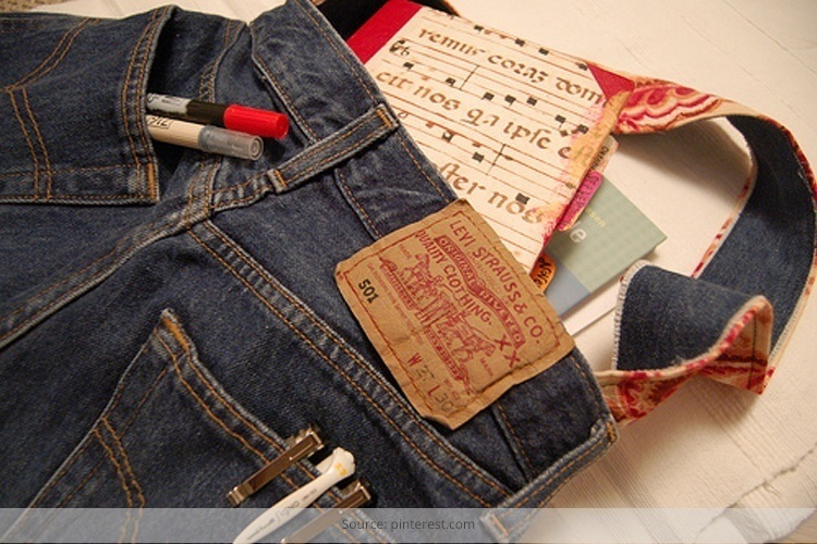 paintings on old pair of jeans