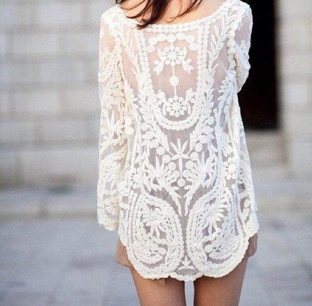 white dresss summer pattern