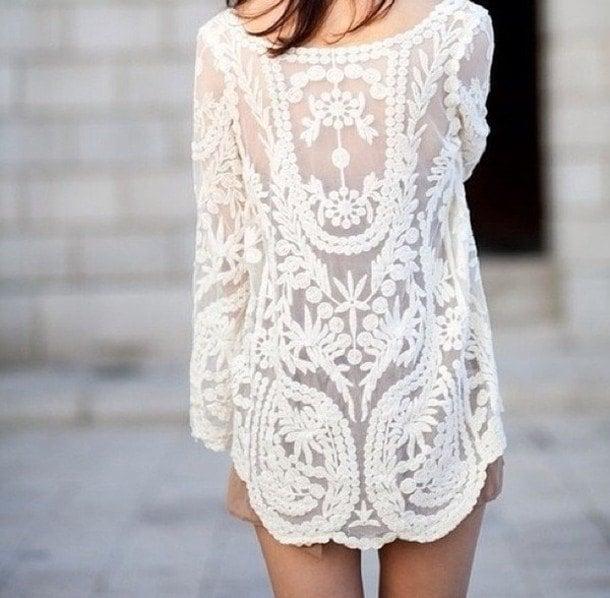 white dresss summer pattern