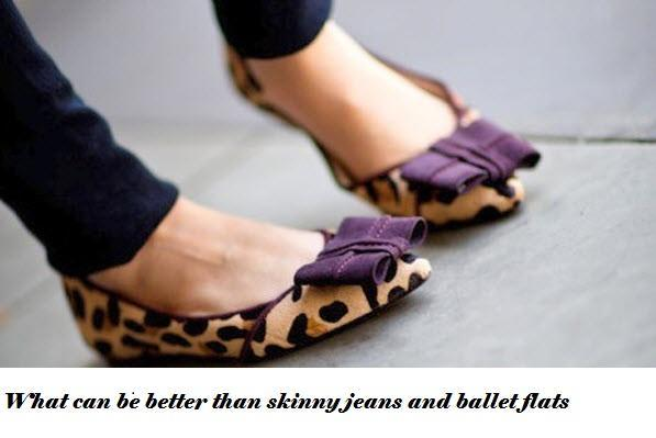 womens flats and jeans