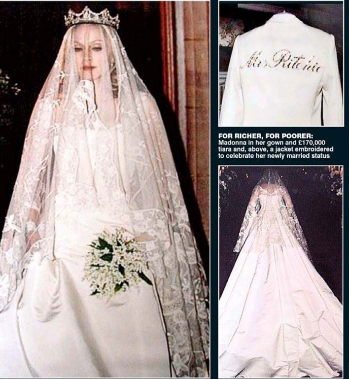 When Madonna Married Guy Ritchie In 2000 She Had Worn A Stella McCartney Dress Made Up Of Ivory Silk Featuring Corset Bodice And Full Length Skirt