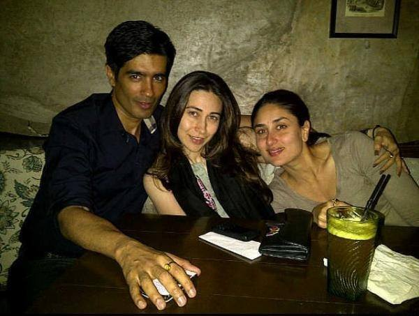 Kareena and Karisma Kapoor spotted with Manish Malhotra