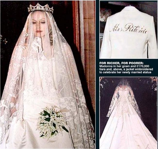 Most Expensive Madonna Wedding Dress