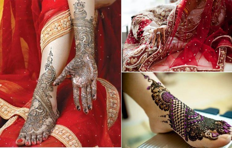 Mehndi in Indian Wedding designs