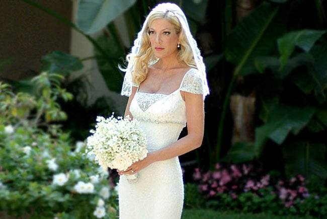 Tori Spelling Expensive Wedding Dress Ever Made