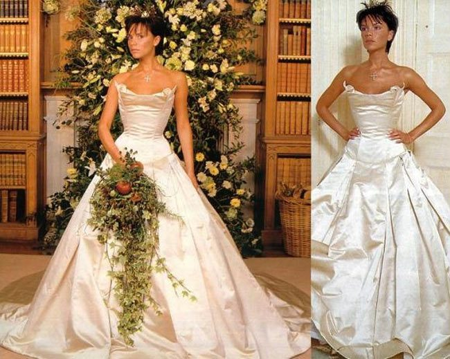 Victoria Beckham Wedding Gown