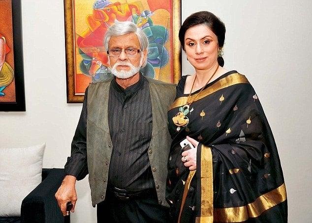 alpana gujral jewelry designer with father satish gujral