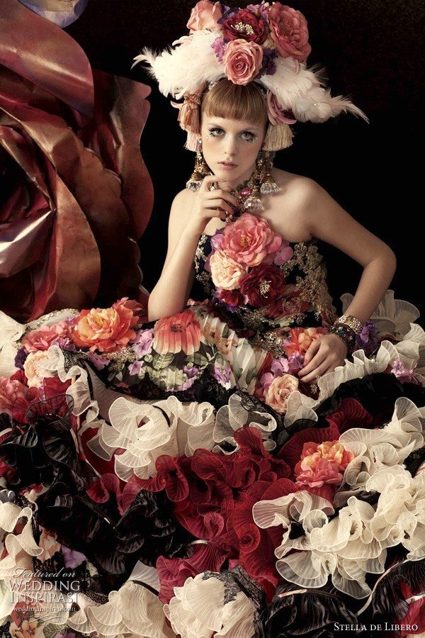 carmen artificial flowers roses dress