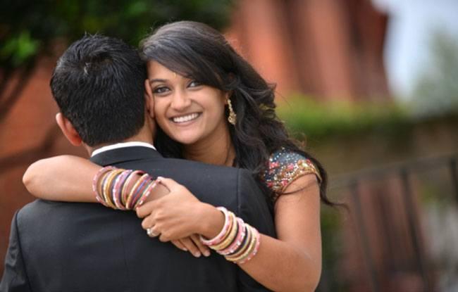 indian wedding portrait couple