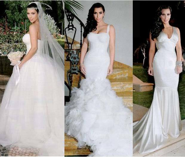 Kim K Wedding Gown