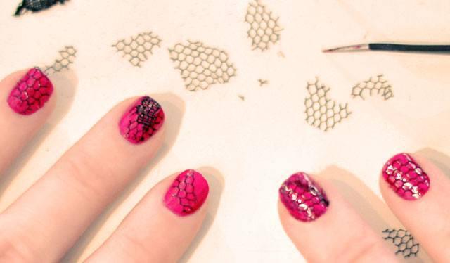 Fishnet Nailart Manicure