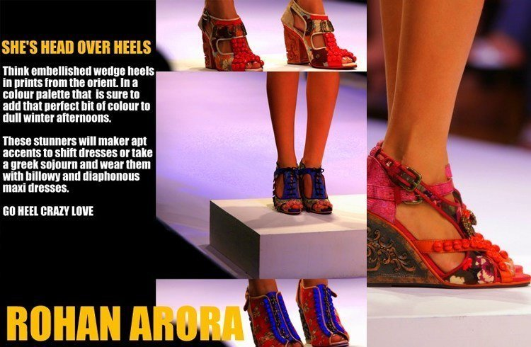 Rohan arora footwear collections