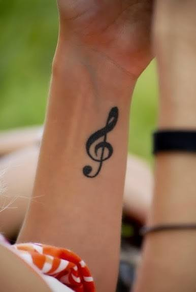 Tattoo of Musical Notes On Wrists