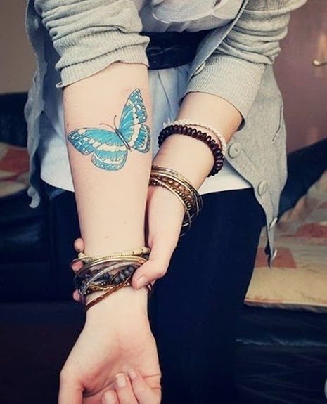 Butterfly Wrist Tattoo for Girls