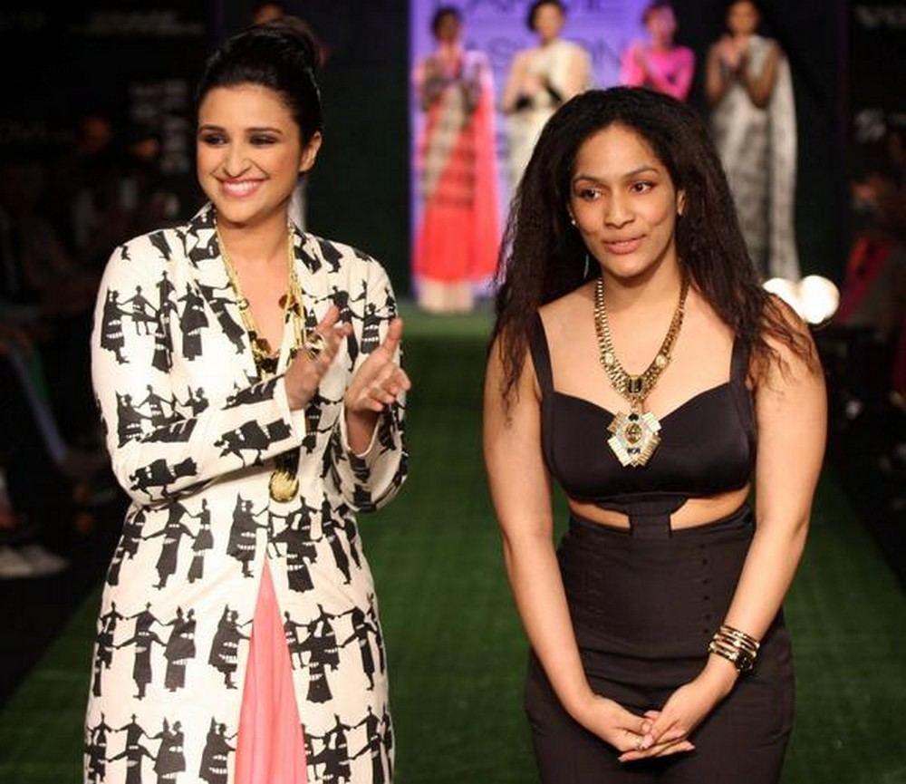 Parineeti Chopra In Masaba Gupta Collection at Lakme Fashion Week