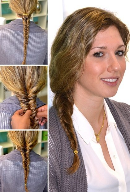fishtail braid tutorial step by step