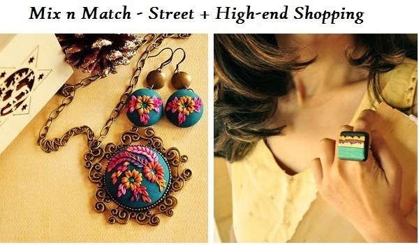 mix n match street high end shopping