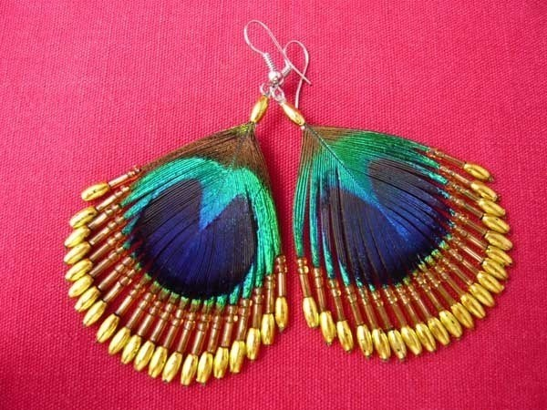 peocock earrings