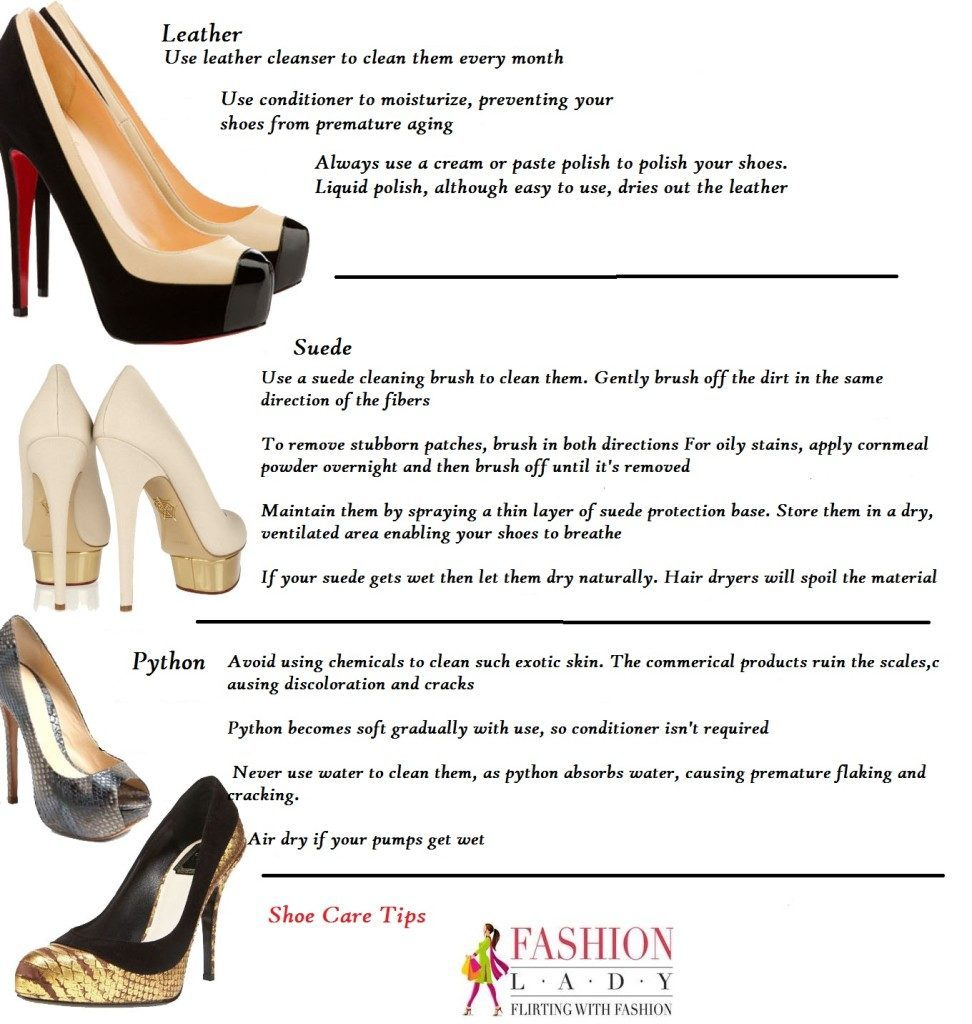womens shoe care tips