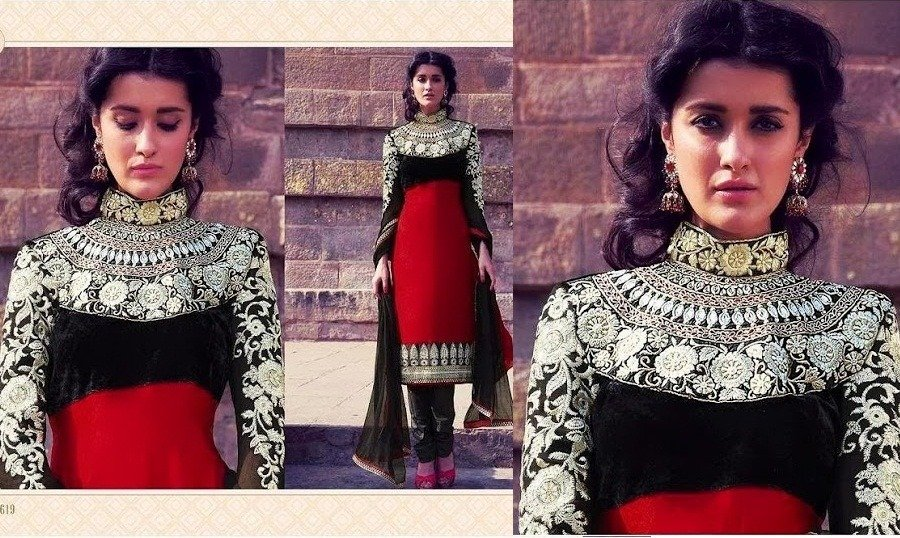 Heavy Neck Embroidery Salwar Suit Eid Fashion