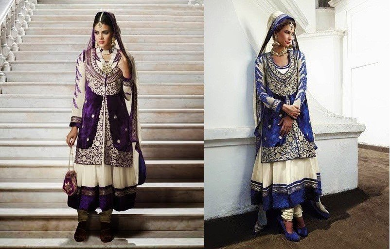 Anarkali Suit With Jacket Eid Fashion