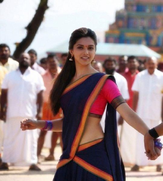 Deepika padukone half saree Chennai express movie