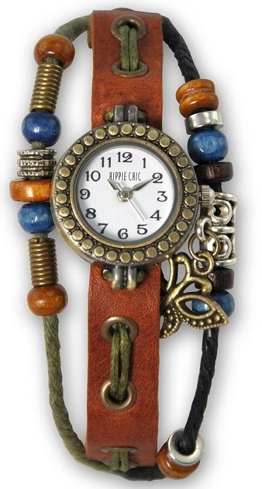 Hippie Chic Leather Watch Bracelet by Breo