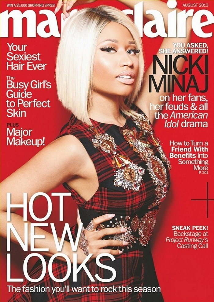 Nicki Minaj on Cover for Marie Claire US August 2013