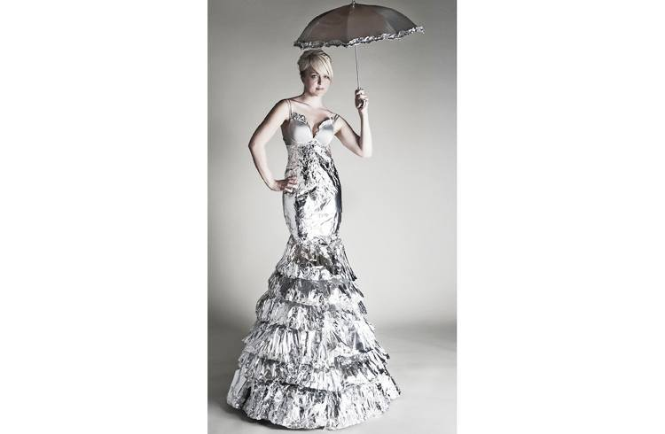Aluminum foil dress