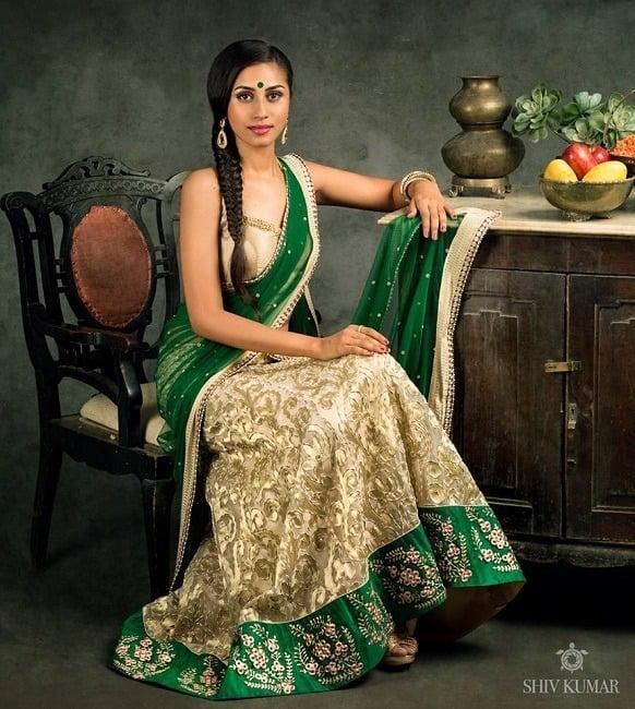 best bhargavi kunam half saree