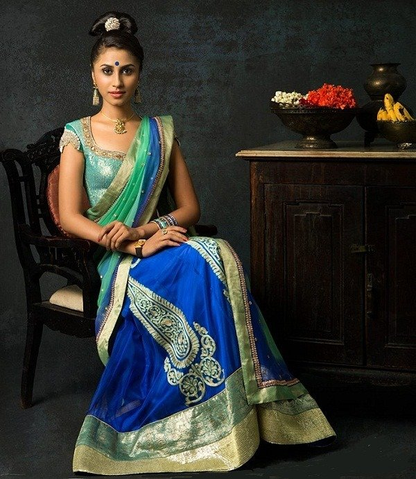 bhargavi kunam half saree fashion