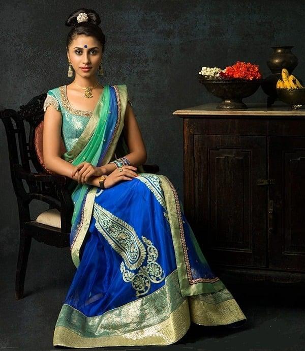 bhargavi kunam half saree fashion