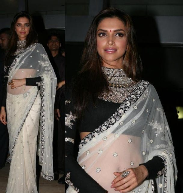 Deepika Padukone High Neck Blouse Designs