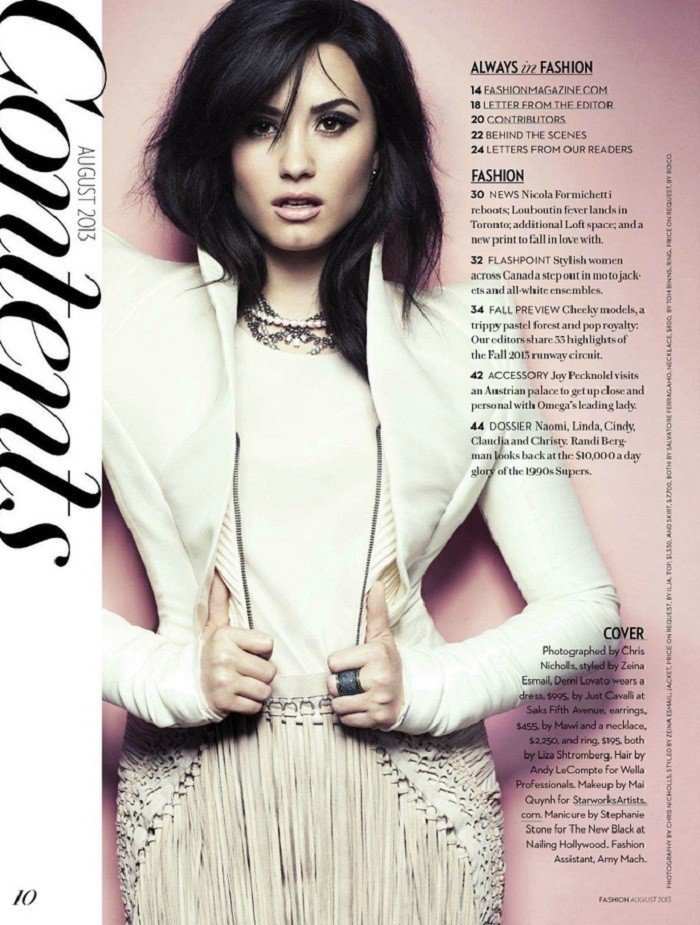 demilovato fashion magazine cover