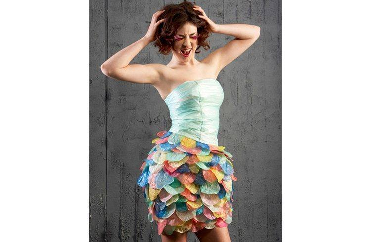 Dress With Plastic