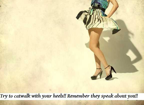 how to catwalk in heels